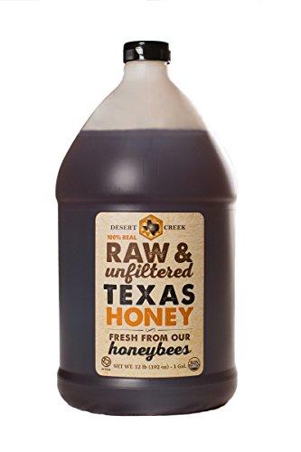 Desert Honey - Raw, Unfiltered, Unpasteurized Texas Honey by Desert Creek Honey 12lbs, 1 Gallon Non-GMO, Kosher