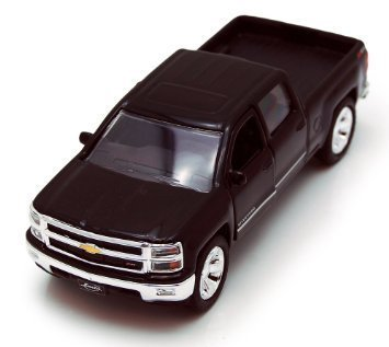 Chevy Silverado Pickup Truck, Black - Jada Toys Just Trucks 97017 - 1/32 scale Diecast Model Toy Car