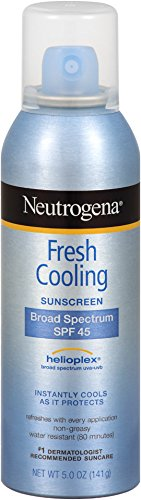 Neutrogena Fresh Cooling Body Mist Sunscreen SPF 45, 5 Ounce