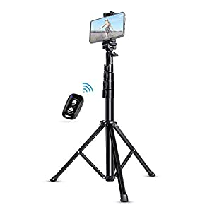 Selfie Stick Tripod, UBeesize 51″ Extendable Tripod Stand with Bluetooth Remote for iPhone & Android Phone, Heavy Duty Aluminum, Lightweight