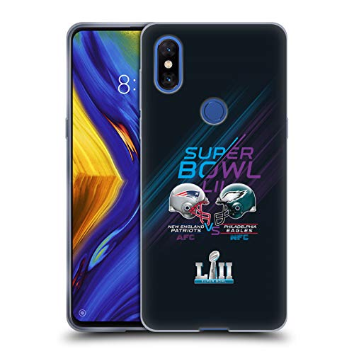 Official NFL Patriots vs Eagles 2 2018 Super Bowl LII Versus Soft Gel Case Compatible for Xiaomi Mi Mix 3
