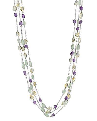 THE PEARL SOURCE Designer Gemstone Necklace in 34