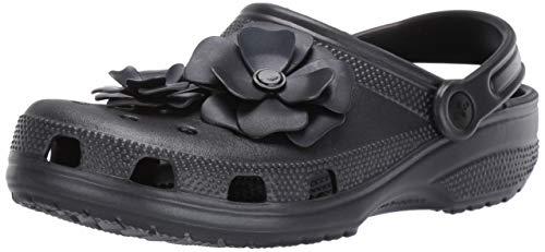 Crocs Classic Vivid Blooms Clog, Black, 7 US Men/ 9 US Women M US