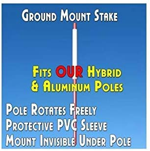 11.5 Tall Flag, 15 Tall Flagpole, Ground Mount Stake Windless Feather Flag Bundle BBQ Black