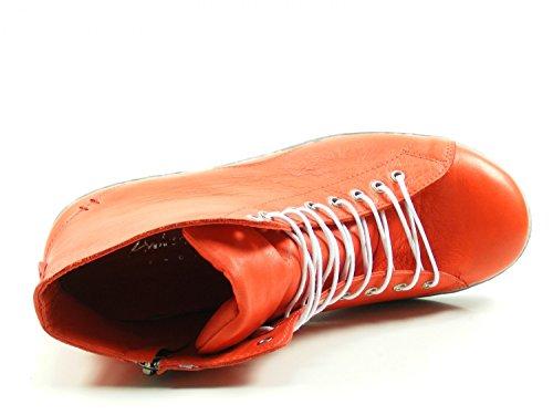 Andrea Conti Sneaker Høje 0341500 Damer Lace-up Støvler Med Lynlås Rød hvnqmMu