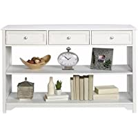 Oxford 3-drawer Console Table in White Look Great Against a Wall, in an Entryway or Behind a Sofa.