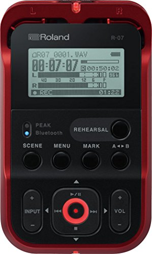 (Roland High-Resolution Handheld Audio Recorder, red (R-07-RD))