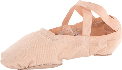 Bloch Dance Women's Synchrony Split Sole Stretch Canvas Ballet Slipper/Shoe, Pink, 6 Medium
