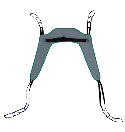 Toileting Patient Lift Sling, with Belt, Size Large, 450lb Weight Capacity