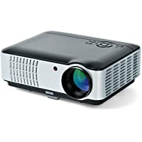 Movie Projector, BAALAND 2000 Lumens LED HD Multimedia Portable Projector with Speaker HDMI VGA USB for Home Office Support Laptop Smartphone