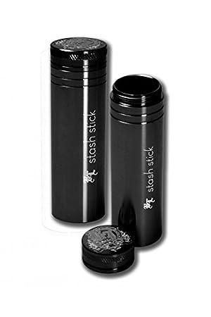 Contenitore Black Leaf Stash Stick in alluminio extra-spesso ideale per i viaggi 95 mm.-Lavorazione di alta qualit/à lunghezza