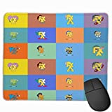Mouse Mat with Designs The Simpsons Springfield Bart Simpson Mousepad Gaming Mouse Pad Natural Rubber 25X30 cm