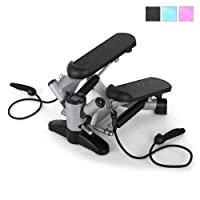 Klarfit Powersteps Twist-Stepper mit Bändern (inkl. Trainingscomputer, 2...