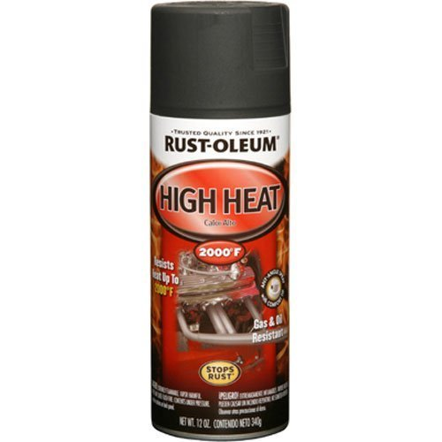 Rust-Oleum 248903 Automotive 12-Ounce High Heat 2000 Degree Spray Paint, Flat Black by Rust-Oleum