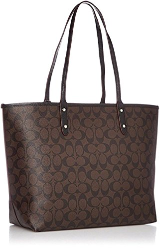 Black PVC City Signature Tote IM Reversible Brown F36609 Coach wn4gSvP8qx