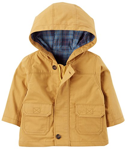 Carter's Boys Flannel-Lined Hooded Jacket; Golden Yellow (3 Months)