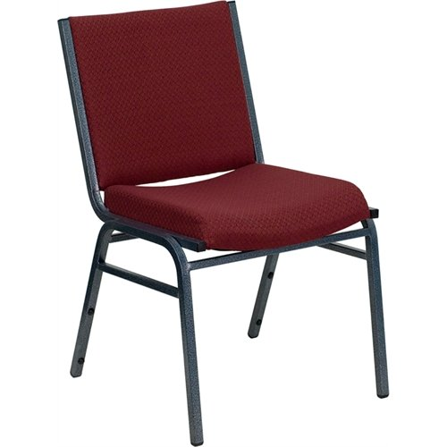 Flash Furniture HERCULES Series Heavy Duty Burgundy Patterned Fabric Stack Chair