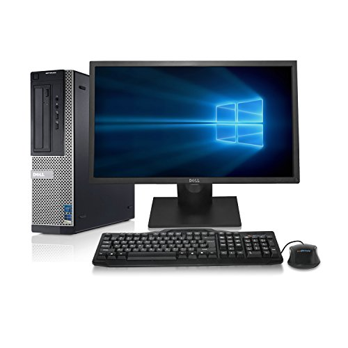 "Dell Optiplex 990 Desktop - Intel Quad Core i7 3.4GHz, NEW 1TB HDD, 8GB DDR3, Windows 10 Professional 64-bit, WiFi, DVD/CD-RW + New Dell 24"" LCD Monitor! (Prepared by ReCircuit)"