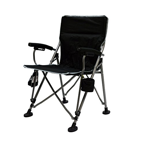The Aviator Portable Armchair in Black by Mac Sports