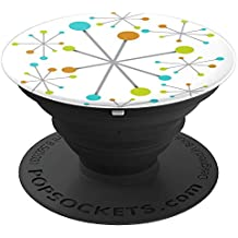 Retro Mid Century Modern Atomic Age Patterns - PopSockets Grip and Stand for Phones and Tablets