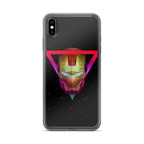 iPhone Xs Max Pure Anti-Shock Case Low Poly Ironman Tony-Stark Stan Lee Movie Shield Avengerss Comic Superhero