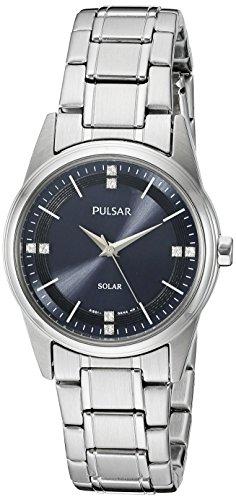 Pulsar Women's PY5001 Solar Dress Analog Display Japanese Quartz Silver Watch