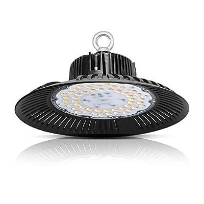 Image of Bay Lighting 100W LED High Bay Light 110V 10000LM High Bay LED Shop Lights for Garage Commercial Shopping Mall - Warm White