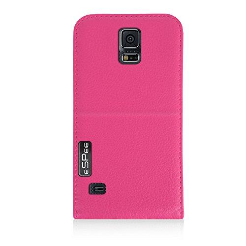 eSPee G5026o funda con cierre magnético y silicona Carcasa de Aluminio para Samsung Galaxy S5 SM-G900F rosa rosa