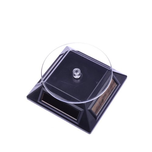 1-X-Solar-Powered-Rotating-Rotary-Phone-Jewelry-Display-Stand-Turntable-Black