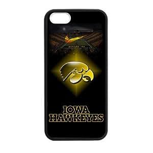 Stadium NCAA Iowa Hawkeyes Apple Iphone 5S/5 Case Cover TPU Laser Technology Football For guys girls