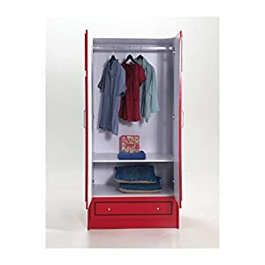 Vipack London Bus Armoire 2 Portes Rouge, MDF