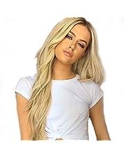 Wigs for Women, Lange Krullend Lady Pruik, Blond Haar Hittebestendige Hoge Kwaliteit Wave Pruik Cosplay Party Pruik