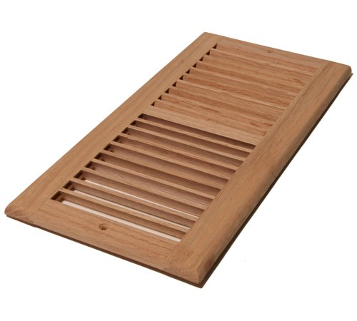 (Decor Grates WL614R-U 6-Inch by 14-Inch Wood Return Air, Unfinished Oak)