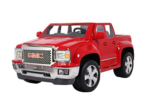 Rollplay GMC Sierra Denali 12-Volt Battery-Powered Ride-On, Red (Kids Powered Battery Volt Cars 12)