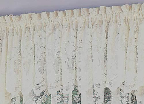 (Ben & Jonah Traditional Elegance by Ben&Jonah Floral Vine Sheer Jacquard Lace Tailored Valance (60