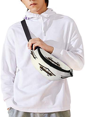 レトロな飛行機 ウエストバッグ ショルダーバッグチェストバッグ ヒップバッグ 多機能 防水 軽量 スポーツアウトドアクロスボディバッグユニセックスピクニック小旅行