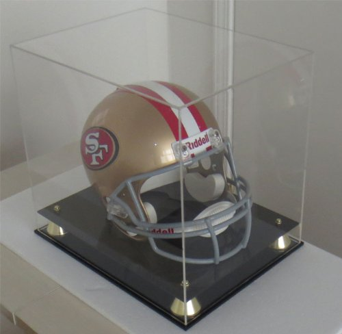 DisplayGifts Full Size Football/Baseball Helmet Display Case Holder, ALL 4 sides Clear, MH03