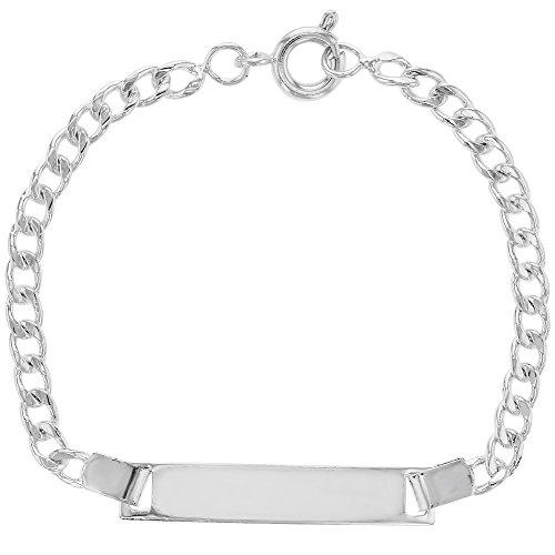Silver Identification Bracelet Toddler Infants