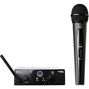 AKG Pro Audio WMS40MINI Vocal Set Band US25A Wireless Microphone System, with SR40 Receiver and PT40 Mini Pocket…