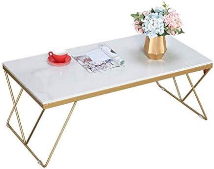 Geweldige Prijs Nordic Smeedijzeren Marmeren Woonkamer Rechthoekige Salontafel Tafel (wit, 120 * 60 * 45cm)  1ycMkCd