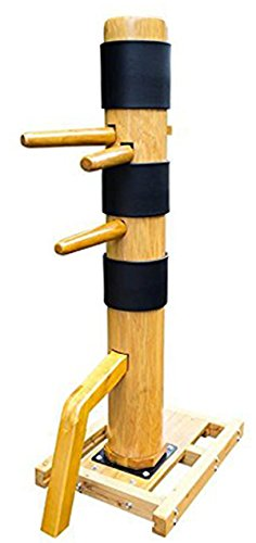 AugustaPro Wing Chun Wooden Dummy Mook Yan Jong – Traditional IP Man Wooden Dummy with Complimentary Striking Protective Pads DS010