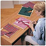 Sammons Preston 960129 Dressing Frame Set, Part 1, Four 12'' Cloth Squares Seated on Wood Frames: Large Buttons, Strings for Tying Bows, Hook & Eye