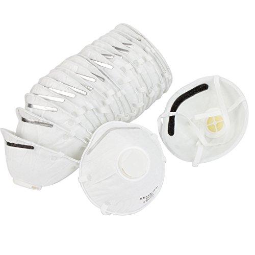20 Pcs Elastic Strap White Non-woven Fabric Particulate Respirators