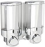 wall bathroom dispenser - Better Living Products 76245-1 AVIVA Two Chamber Dispenser, Chrome