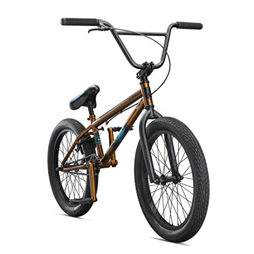 Mongoose Legion L40 Freestyle BMX Bike for Intermediate Riders, Featuring Hi-Ten Steel Frame and Micro Drive 25x9T BMX Gearing with 20-Inch Wheels, Copper