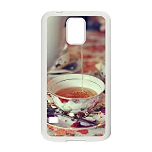 Afternoon Tea Customized Cover Case with Hard Shell Protection for SamSung Galaxy S5 I9600 Case lxa#411629 hjbrhga1544