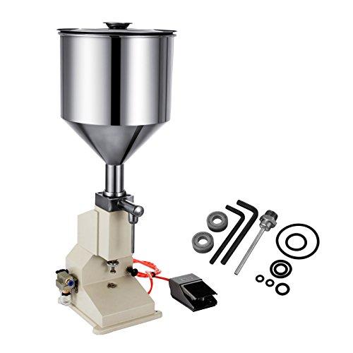 VEVOR A02 Bottle Filling Machine 5-50ml Liquid Filling Machine Stainless Steel Filling Machine for Cream Shampoo Cosmetic Bottler Filler (A02)