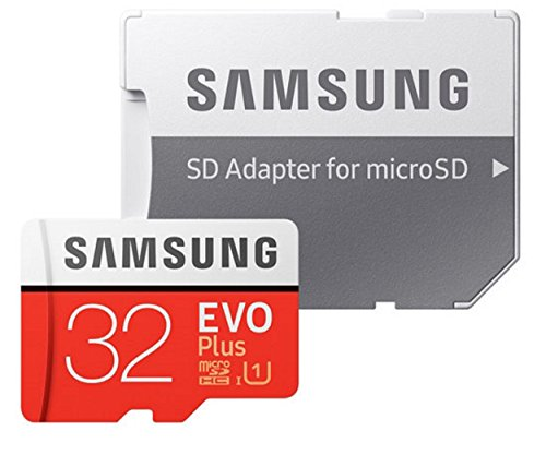 32GB Samsung Evo Plus Micro SDHC Class 10 UHS-1 32G Memory Card for Samsung Galaxy S8, S8+, S8 Note, S7, S7 Edge, S5 Active, S4, S3, Cell Phone with Everything But Stromboli Card Reader (MB-MC32)