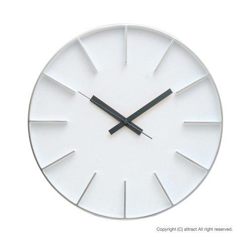 Lemnos レムノス edge clock エッジクロック Lサイズ カラー:ホワイト AZ-0115 デザイン:AZUMI 置時計 壁掛け時計 掛時計 時計 ウォールクロック B00EE1AG7S ホワイト ホワイト
