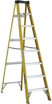 8 pinch-resistant Spreader Brace, fibra de vidrio escalera, color amarillo: Amazon.es: Bricolaje y herramientas